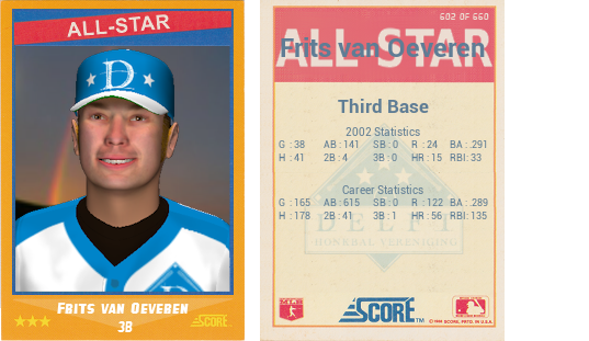 Frits Vanoeveren 1988 Score All Star